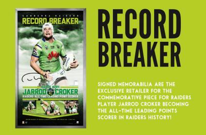Record Breaker at Signed Memorabilia